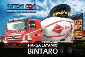 Harga Beton Cor Ready Mix Jayamix di Bintaro