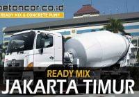 harga beton ready mix jakarta timur