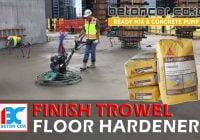 harga jasa finish trowel dan floor hardener
