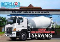 harga beton cor ready mix serang